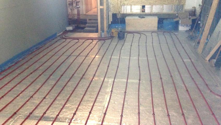 Gloucestershire Plumber installs underfloor heating