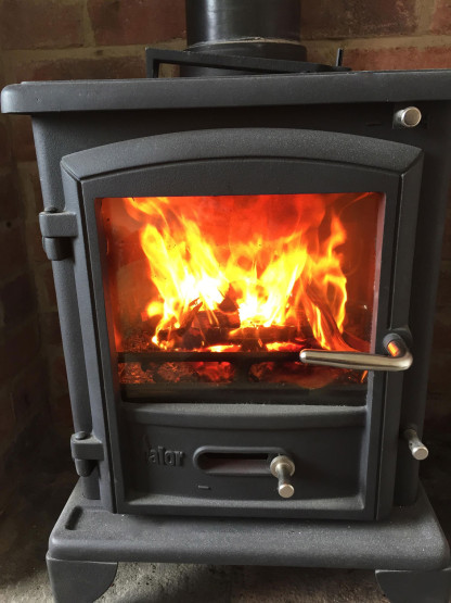 Wood burner installation example 2