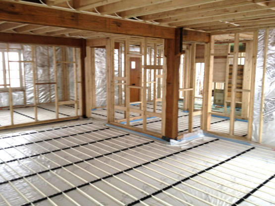 Gloucestershire Plumber installs underfloor heating 4