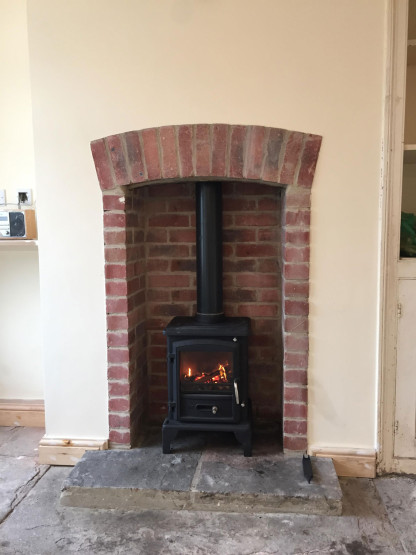 Wood burner installation example 3